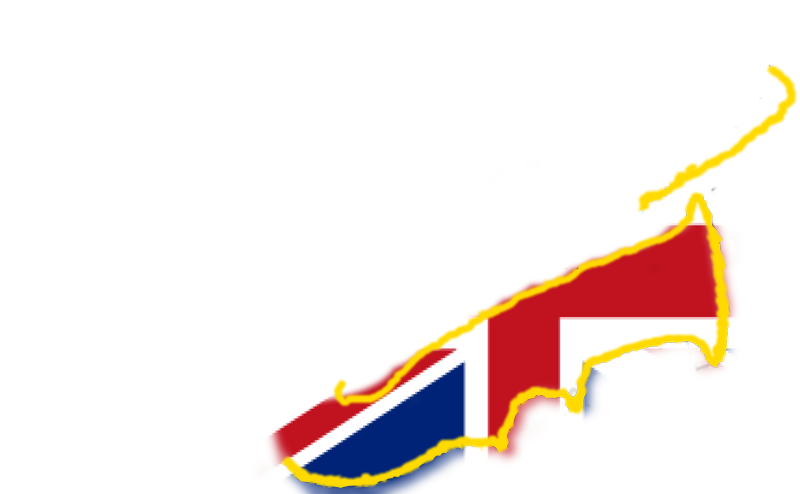 golden saxo logo with United kingdoms flag