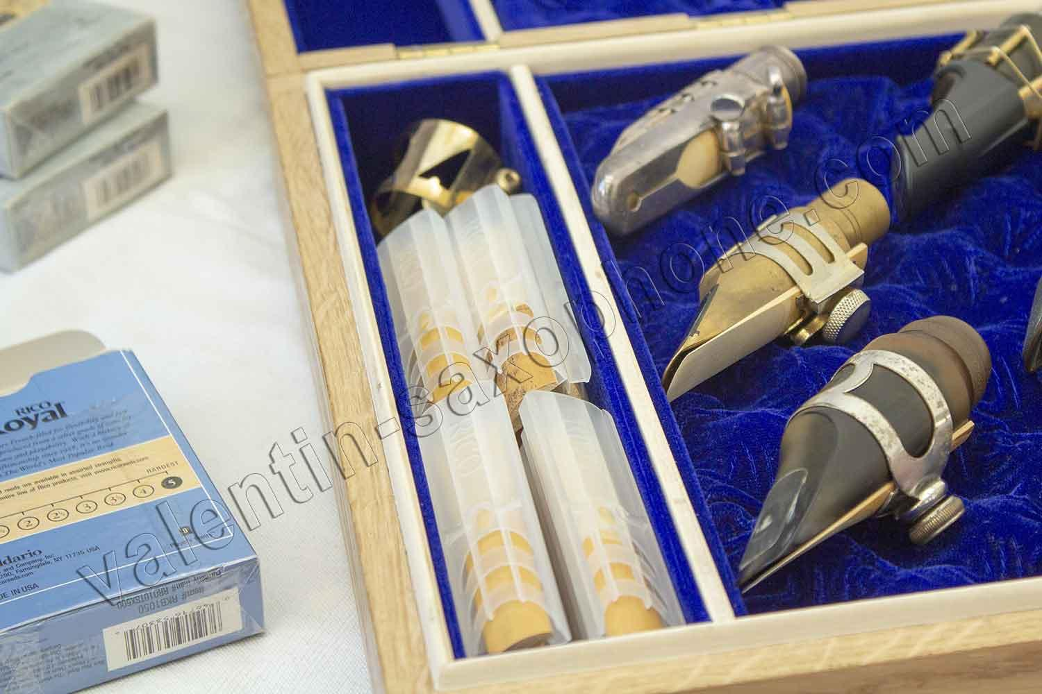 Valentin cases : About thirty free reeds take place in the compartment.